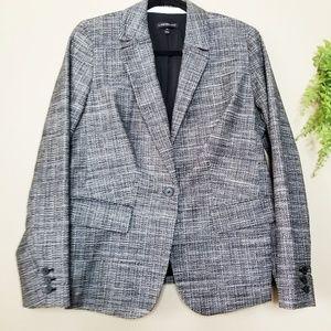 Lane Bryant | Black Crosshatch Tweed Blazer
